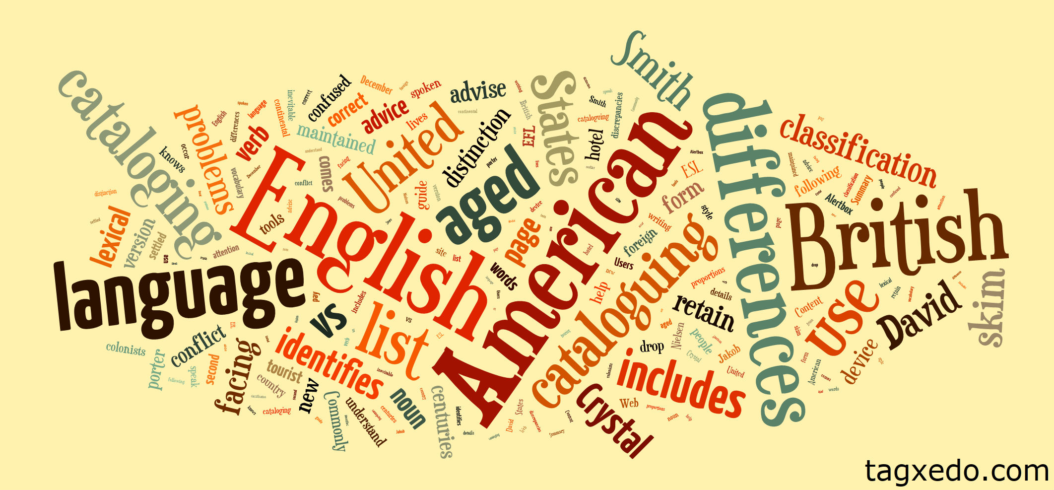 List of American vs. British English Vocabulary | Hugh Fox III