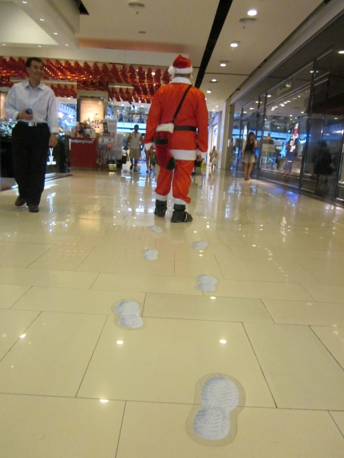 Hugh Fox III as Santa in Bangkok