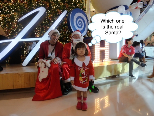 Hugh Fox III as Santa in Bangkok, Wyatt Akin as Santa's Son