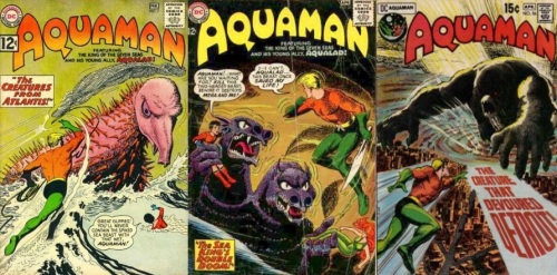 Aquaman,  Aquaman #7, The Creatures from Atlantis, Aquaman #20, Two-Headed Beast, Aquaman #56, The Creature that Devoured Detroit