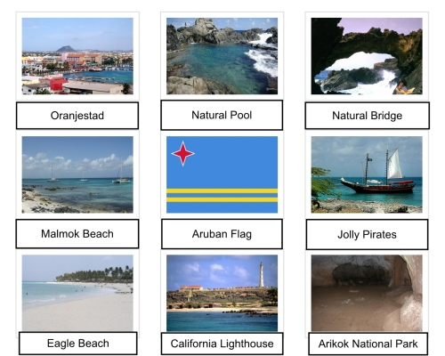 Arikok National Park, Aruba, Aruba Collage, Aruban Flag, California Lighthouse, Caribbean, collage, Eagle Beach, Jolly Pirates, Malmok Beach, Natural Bridge, Natural Pool, Oranjestad, The Americas