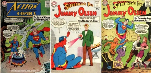 Devil Transformations, Devil Collage Key, Action #324, Devil Supergirl, Jimmy Olsen #68, Devil Superman, Jimmy Olsen #81