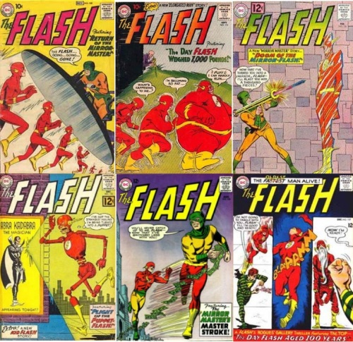 Flash Transformations, Flash Collage Key, Flash #109, Small Flash, Flash #115, Fat Flash, Flash #126, Mirror Flash, Flash #133, Puppet Flash, Flash #146, Half Body Flash, Flash #157, Old Flash