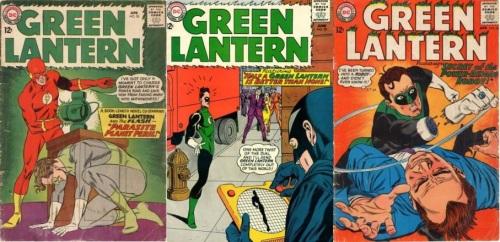 Green Lantern Transformations, Green Lantern Collage Key, Green Lantern #20, Phantom Green Lantern, Green Lantern #29, Half Body Green Lantern, Green Lantern #36, Robot Green Lantern