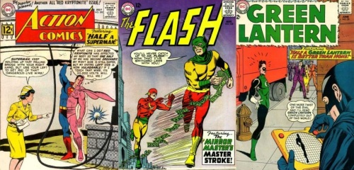 Half Body Transformations, Half Body Collage Key, Action Comics #290, Flash #146, Green Lantern #29
