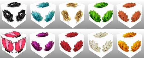 cube, 3D cube, Blue Lotus, Skt., utpala, Tib., ut pa la, Green Lotus, Orange Lotus, Gold Lotus, Pink Lotus, padma, pad ma dmar po, kamala, pad ma chu skyes, pundarika, pad ma dkar po, Silver Lotus, Yellow Lotus, Purple Lotus, Red Lotus, collage