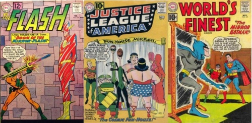 Mirror Transformations, Mirror Collage Key, Flash #124, Mirror-Flash, Justice League of America #7, Fun-House Mirror, World's Finest #121, Mirror Batman