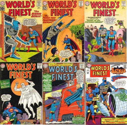 World's Finest #121, Mirror, World's Finest # 128, Freak, World's Finest #138, Batman Caveman, World's Finest #139, Batman Phantom, World's Finest #151, Batman Big Brain,