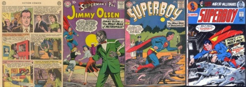 Werewolf Transformations, Werewolf Collage Key, Action #283, Linda Danver's Werewolf, Jimmy Olsen #44, Jimmy Olsen Wolf-Man, Superboy #116, Superboy #180