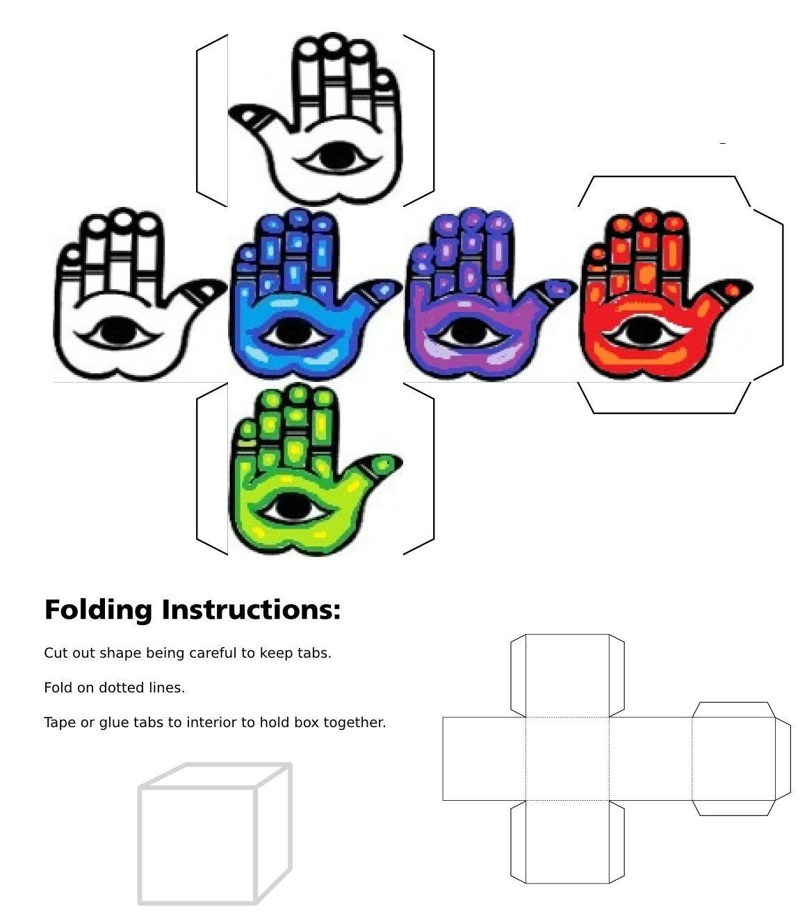 3D cube, dice, Eye of Fatima, Left Eye of Fatima, Blue Eye of Fatima, Green Eye of Fatima, Purple Eye of Fatima, Red Eye of Fatima, Hamsa, Blue Hamsa, Green Hamsa, Purple Hamsa, Red Hamsa