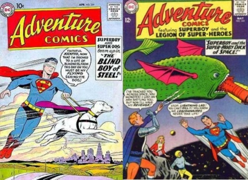 Handicap, Handicap Collage Key, Adventure Comics #259, Blind Superboy, Adventure Comics #332