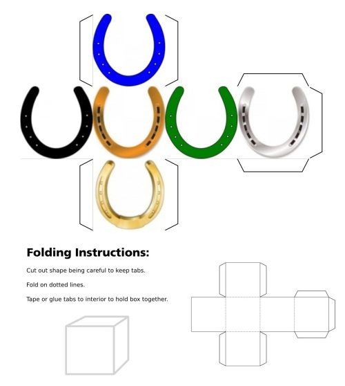 Horseshoe, cube, 3Dcube, dice, dice, Good Luck, Black Horseshoe, Blue Horseshoe, Green Horseshoe, Bronze Horseshoe, Silver Horseshoe, Gold Horseshoe