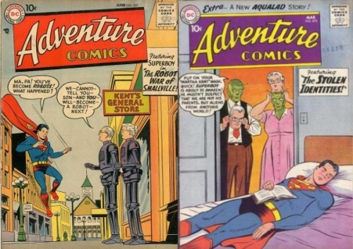 Ma and Pa Kent Transformations, Adventure Comics #237, Robot Ma & Pa Kent, Adventure Comics #270, Ma and Pa Kent Aliens