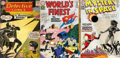 Negative Transformations, Negative Collage Key, Detective #284, Negative Batman, Mystery in Space #78, World's Finest #126, Negative Superman,