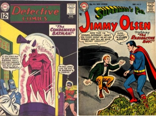 Radioactive, Radioactive Collage Key, Detective #17, Radioactive Batman, Jimmy Olsen #17, Radioactive Jimmy Olsen, Radioactive Boy,