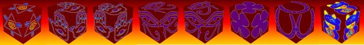 cube, 3d cube, lucky dice, luck symbols, Heat Map Eye of Fatima, Heat Map Eye of Providence, Heat Map Four Leaf Clover, Heat Map Horseshoe, Heat Map Maneki Neko