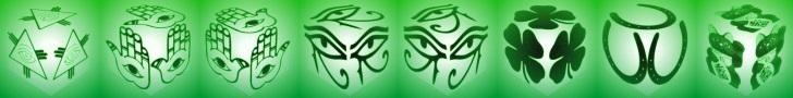 cube, 3d cube, lucky dice, luck symbols, Night Vision Eye of Fatima, Night Vision Eye of Providence, Night Vision Four Leaf Clover, Night Vision Horseshoe, Night Vision Maneki Neko