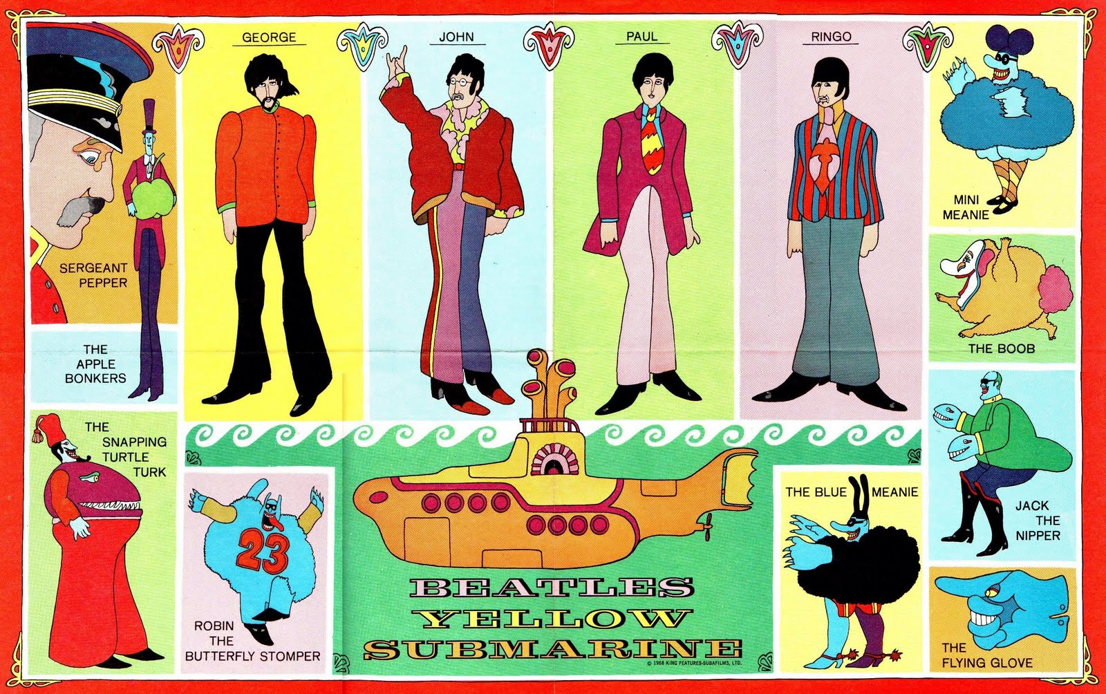 THE BEATLES YELLOW SUBMARINE SEALED APPLE RECORDS PCS 7070 ...