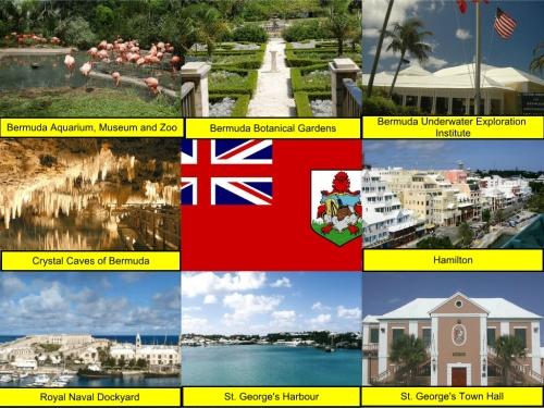 Bermuda Aquarium, Museum and Zoo, Bermuda Botanical Gardens, Bermuda Underwater Exploration Institute, Crystal Caves of Bermuda, Bermudan Flag, Hamilton, Royal Naval Dockyard, St. George's Harbour, St. George's Town Hall