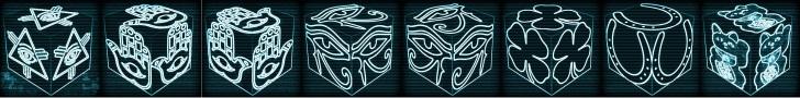 cube, 3d cube, lucky dice, luck symbols, Cyber Vision Eye of Fatima, Cyber Vision Eye of Providence, Cyber Vision Four Leaf Clover, Cyber Vision Horseshoe, Cyber Vision Maneki Neko