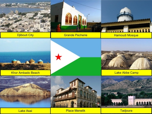 collage, Djibouti Collage, Djibouti Flag, Djibouti, Djibouti City, Grande Pecherie, Hamoudi Mosque, Khor Ambado Beach, Lake Abbe Camp, Lake Asal, Place Menelik, Tadjoura