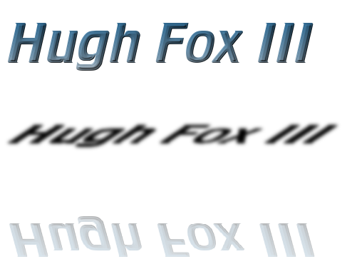 Hugh Fox III - Cool Metal Triple Reflection