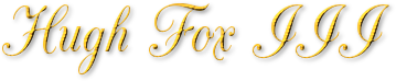 Hugh Fox III - Gold Trim