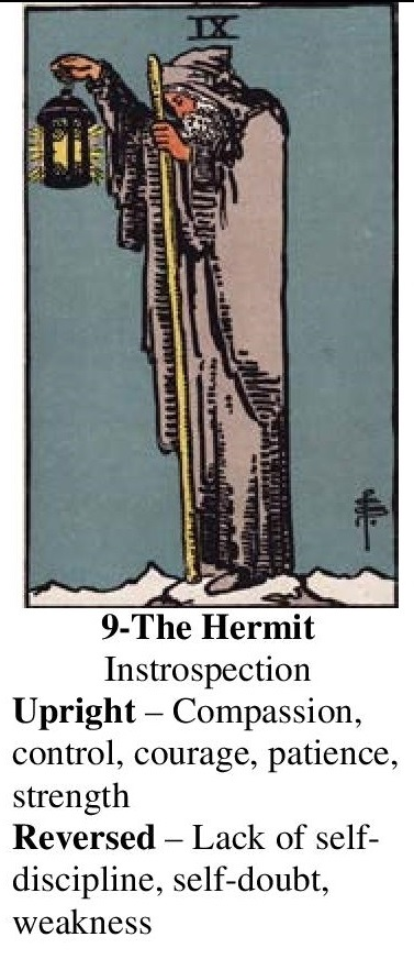 9-Tarot-The Hermit-Annotated