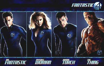 Mister Fantastic, Human Torch, Invisible Woman, The Thing
