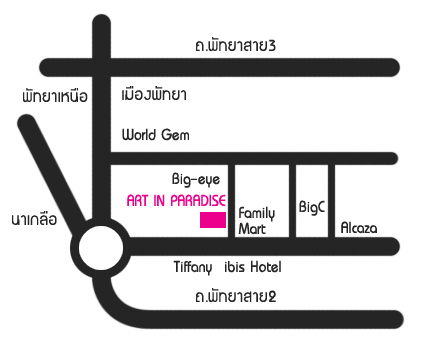 00Art in Paradise Pattaya map