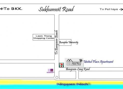 United Place Bangsaen Map