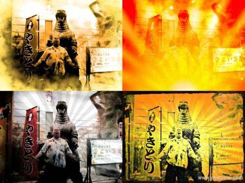 Godzilla Hugh Fox Collage resize