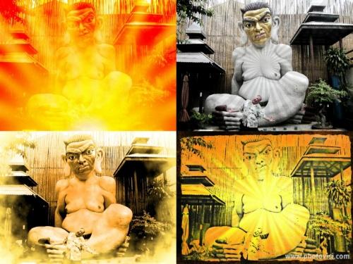Statue Hugh Fox Collage resize