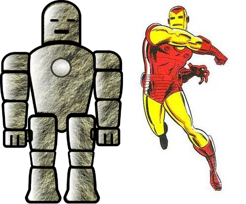 21Stone Man vs Iron Man