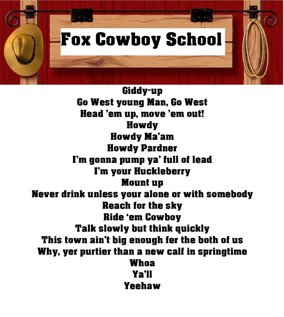 Fox Cowboy School Hugh Fox Iii