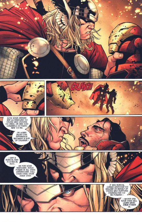 Iron Man versus Thor