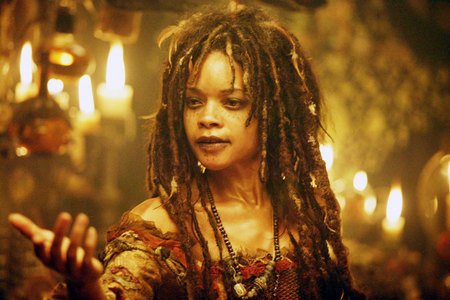 Tia Dalma in Pirates of the Carribean