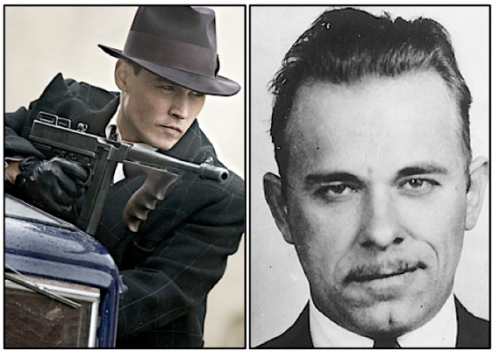 1 Johnny Depp as John Dillinger