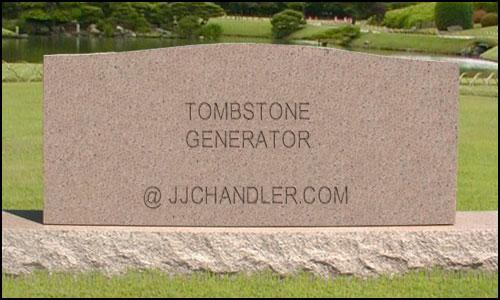 tombstonegenerator JJchandler