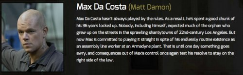 1Matt Damon as Max Da Costa