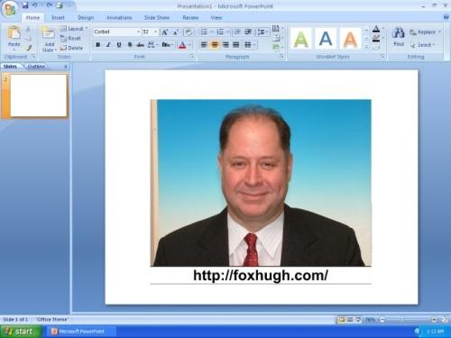 Hugh Fox and PowerPoint