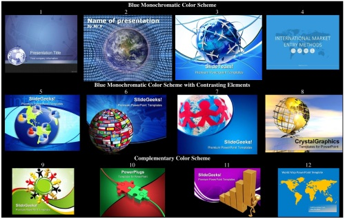 International PowerPoint Template Collage Exercise