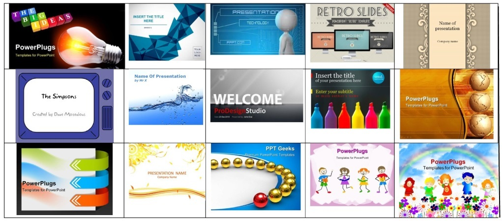 100 Plus Great PowerPoint Templates