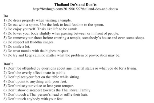Thailand Do's and Don'ts Resized