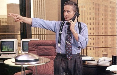 1Michael Douglas as Gordon Gekko