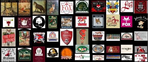 Fox Pub Signs 2 Landscape 55x23 inches