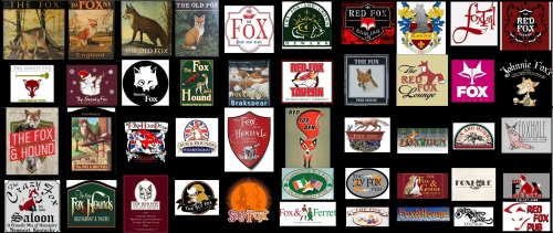 Fox Pub Signs 2 Landscape 55x23 inches