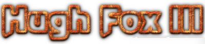 Hugh Fox III - 3D Outline Orange