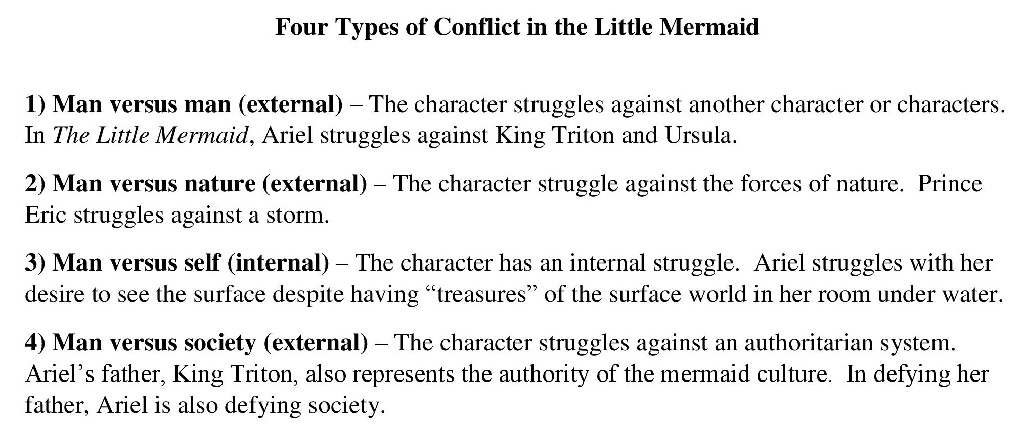 Examples List on External Conflict