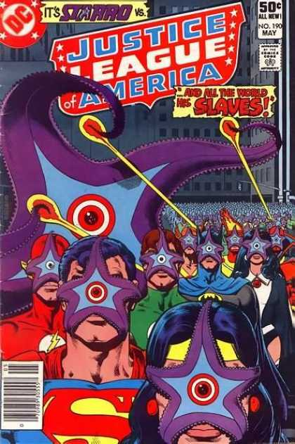 1 Comic Book Merged Humans - Starro - Justice League of America 190